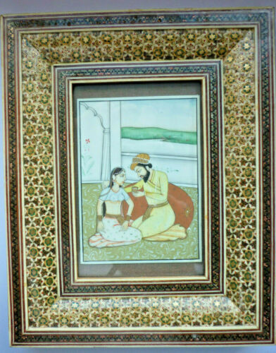 Magnifying Glass Painting, Miniature Painting Persia (Art.4989)