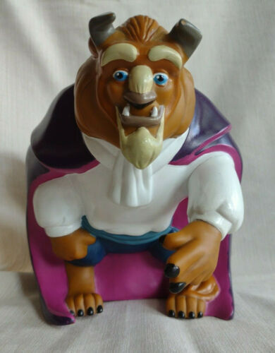 Vintage Mattel Disney Beauty and The Beast Plastic Coin Piggy Bank