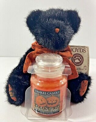 Yankee Candle Halloween Trick or Treat Boyds Bear Head Bean Collection