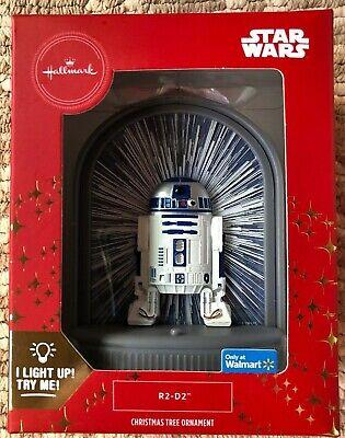 2019 Hallmark R2D2 Star Wars I Light Up Christmas Tree Red Box Ornament - New