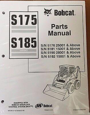 Bobcat S175 S185 Skid Steer Parts Catalog Manual 6901856