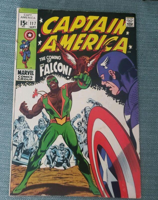 Captain America #117 (1969)  Origin and 1st appearance of the Falcon FINE-FINE+
