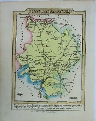 Antique map of Huntingdonshire by William Lewis 1819