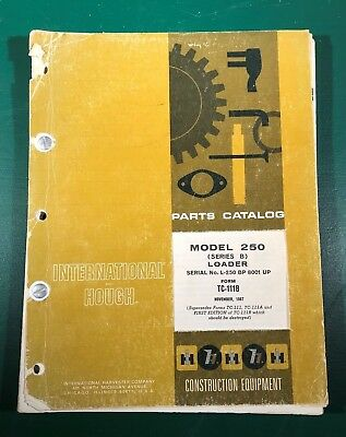 International And Hough Model 250 Series B Loader Parts Manual November 1967