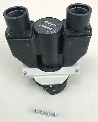 Nikon Diaphot Microscope Binocular Head No Eyepieces With Mounting Screws