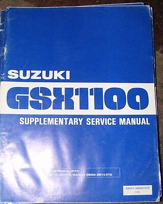 SUZUKI  GSX1100X  SUPPLEMENTARY SERVICE MANUAL 1981 (CONTENTS LISTED)