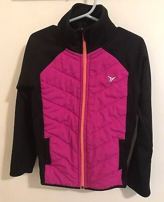 Girls Old Navy Pink Lined Athletic Jacket SZ - Girls Pink Jackets