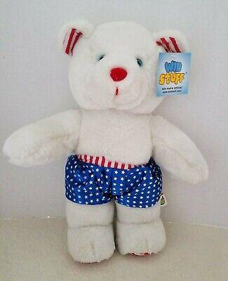 Vintage Patriotic Good Stuff Bear Plush 14