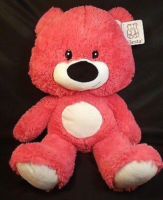 Large Fiesta Stuffed Plush Coral Teddy Bear 21