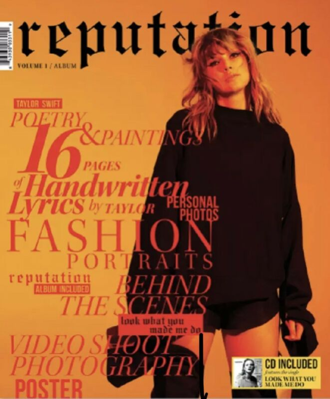 TAYLOR SWIFT Reputation CD and Exclusive Magazine Volume 1 & 2