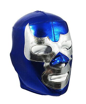 BLUE DEMON (pro-LYCRA) Adult Mexican Lucha Libre Wrestling Costume Mask - Blue](Wrestling Costumes Adults)