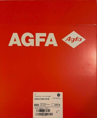 """GE Structurix D3-SC NIF 14"""" X 17"""" 100 NIF AGFA EXP. 04/2023"""