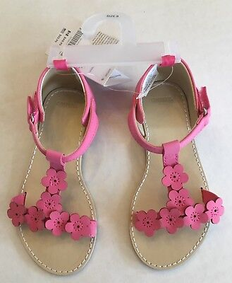 NWT Gymboree Family Brunch Sz 8 Pink Easter Flower Toddler Sandals for about 3T (Easter For Toddlers)