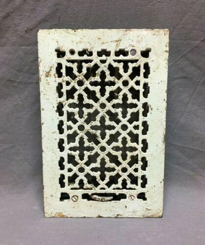 Antique Cast Iron Gothic Heat Grate Floor Register 6x10 Vintage Old 915-20B