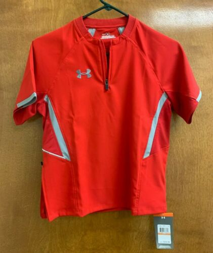Under Armour Youth Cage Baseball Allseason Jacket Red Youth Small 1212606