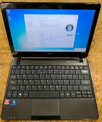 Acer Aspire One A0722 Laptop Netbook AMD C60 1.00Ghz 320GB HD 2GB RAM HDMI