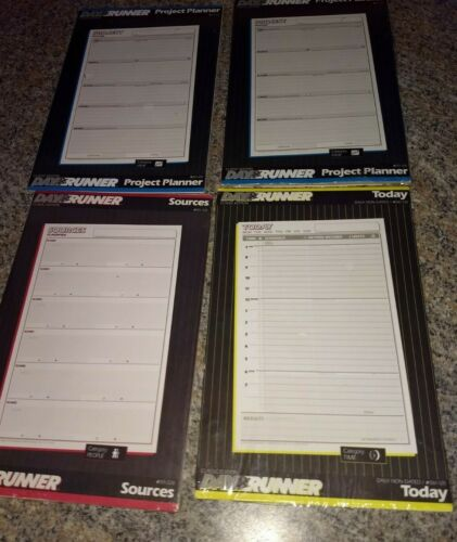 NEW sealed Day Runner - Project Planner, Sources, Today Refill lot
