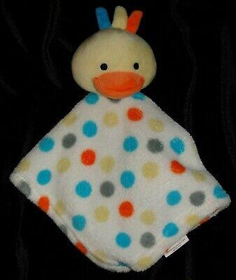 Swiggles Yellow Duck Polka Dot Security Blanket Lovey Fleece SOFT VHTF RETIRED Polka Dot Duck