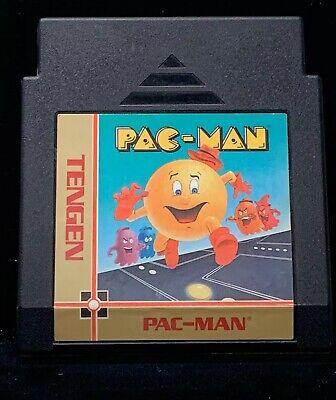 1980 Tengen Pac-Man Unlicensed NES Nintendo Game Cart Only W/ Black Case Pacman