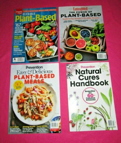 Mixed Lot of 4 PLANT BASED Nutritional Magazines 2020 Brand NEW Free Shipping