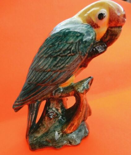 Stangl Pottery Birds Carolina Parakeet eating a cocklebur seed #3449