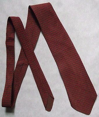 TOOTAL BLUE QUALITY TIE VINTAGE RETRO 1950s 1960s MOD DARK RED BROWN PATTERNED