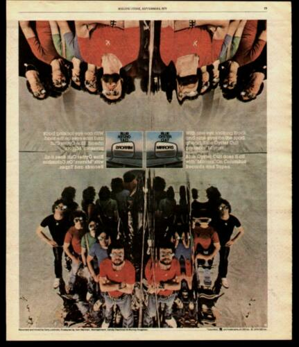 "1979 BLUE OYSTER CULT ""MIRRORS"" ALBUM AD"
