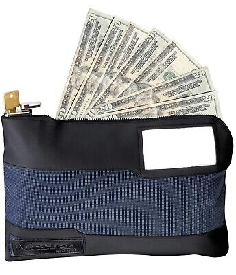 Master Lock Safe-Space 7120D Money Storage Bag with Key Lock 11-1/2 In. Long