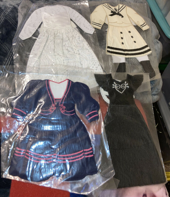 LOT OF 4~ Vintage Pockets Of Learning Press N Dress Doll Outfit  NEW