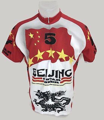 Beijing Five Star Beer Men s Biking Bike Cycling Jersey World Jerseys Size M 3d822fb97