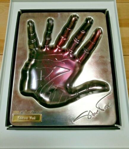 Steve Vai - Handprint Plate Young Guitar Magazine 2015 JAPAN Limited