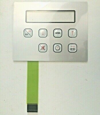 ELET0153 ZANOLLI GAS PIZZA OVEN KEYPAD TOUCH PAD FASCIA PANEL 7 BUTTON MEMBRANE for sale  Shipping to Ireland