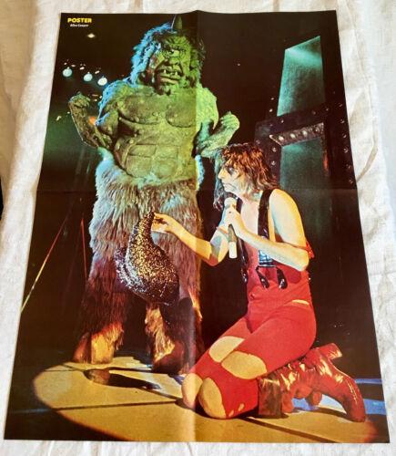 Alice Cooper 1976 Live Monster - Swedish Poster Magazine 1970s Very Rare Vintage
