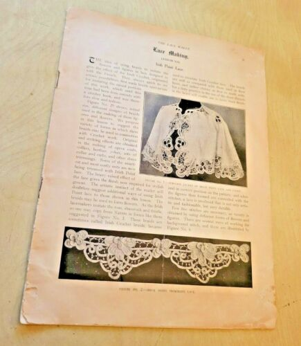 Antique Booklet on LACE MAKING by The Lace Maker 48 Pages AS IS
