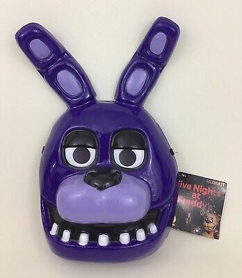 Bonnie Mask Five Nights At Freddy's Adult Purple Bunny Costume Rubies 2016 Half