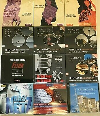 XXL MEGA HÖRBUCH-PAKET - 12 KRIMI/THRILLER HÖRBÜCHER auf 34 CDs! WAHNSINNSPREIS!
