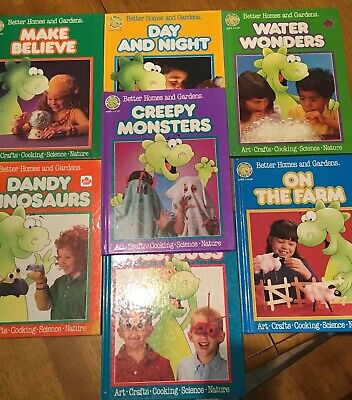 Better Homes and Gardens Fun Projects for Kids 7 Books Lot Dandy Dragon (Best Arts And Crafts Projects)