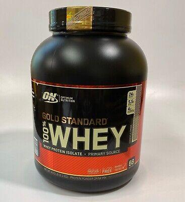 Optimum Gold Standard 100% Whey 4.63 Lb Protein Cookies & Cream, Exp 03/2021