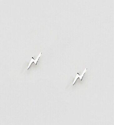 Kingsley Ryan Sterling Silver Lightning Bolt Stud Earrings