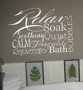 Bathroom Wall Words Decal Ebay