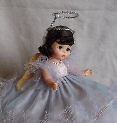 Cosmopolitan Ginger Blue Fairy Dress Tagged w Paper Wings & Homemade Halo, Ginny