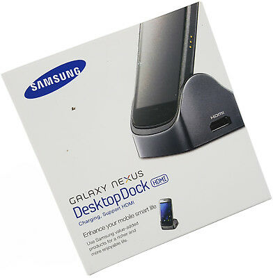 Usb Desktop Dock ( Samsung Galaxy Nexus Desktop Dock HDMI GT-i9250 Ladestation USB 2.0 NEU)