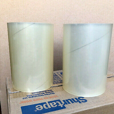 2 Rolls - 6 X 72 Yds. Clear Label Document Protection Packaging Cartons Tape