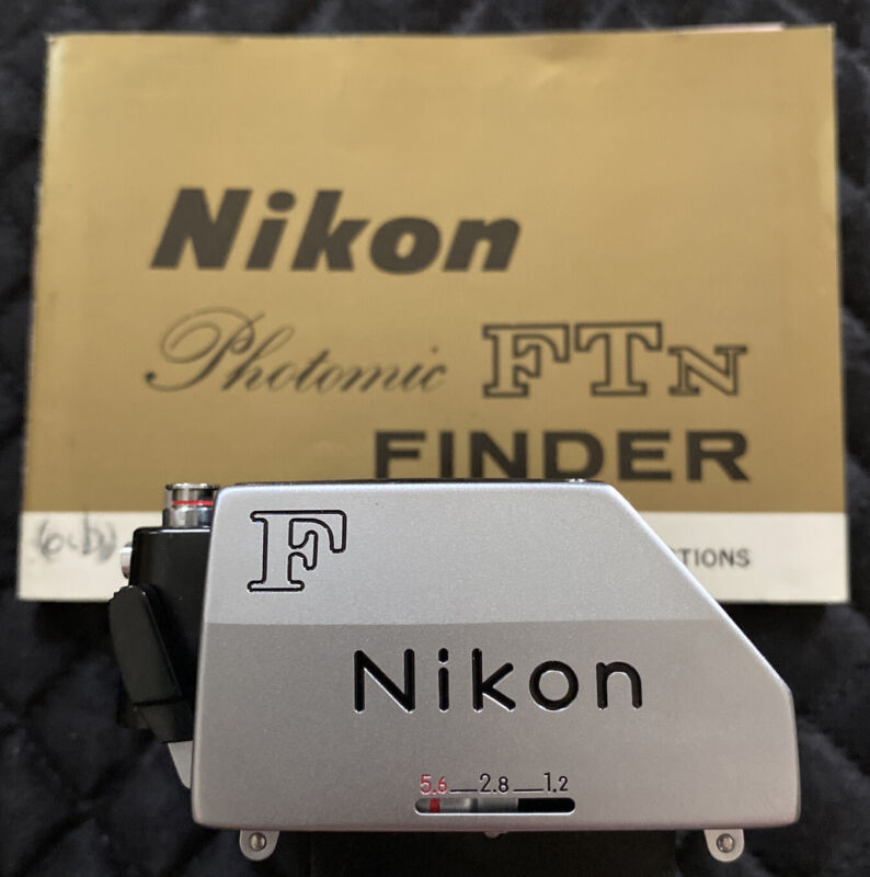 Untested Nikon F Photomic Finder Silver FTN Japan with Case and Manual