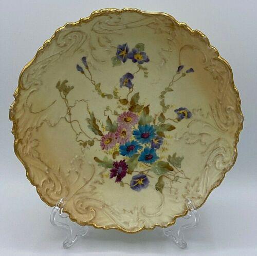 "Antique ~1895 Rudolstadt Straus & Söhne Porcelain Hand Painted Fruit Plate 8.5"""