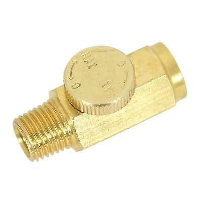 "UFFY Brass In-Line Air Flow Regulator Control Tool Valve 1/4"" NPT"
