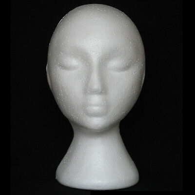 New Female Styrofoam Foam Head Model Hat For Mannequin Manikin Wig Display Stand