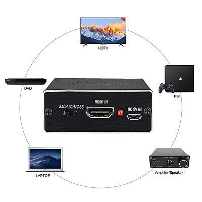 4Kx2K HDMI auf HDMI Audio Extractor Splitter HDMI 1.4 3.5mm Audio Output HDTV DE Kx Audio