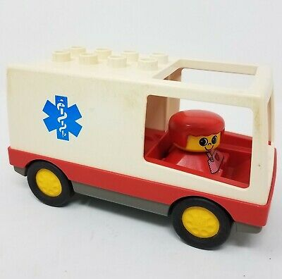 LEGO DUPLO 1994 AMBULANCE for Hospital Doctor VEHICLE #2682 Vintage