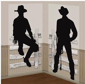 Western Cowboy Party Wall Prop Add On Scene Wild West Decoration